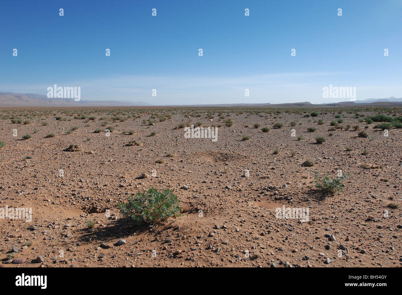 A view of the Sahara Desert in Morocco - Stock Image