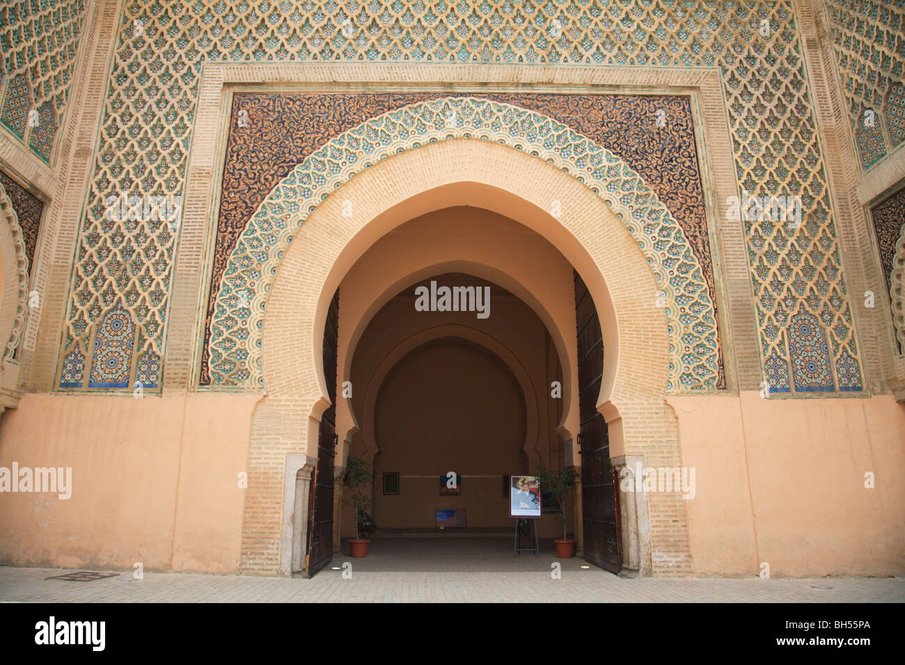 Bab Mansour Gate Meknes Morocco North Africa - Stock Image
