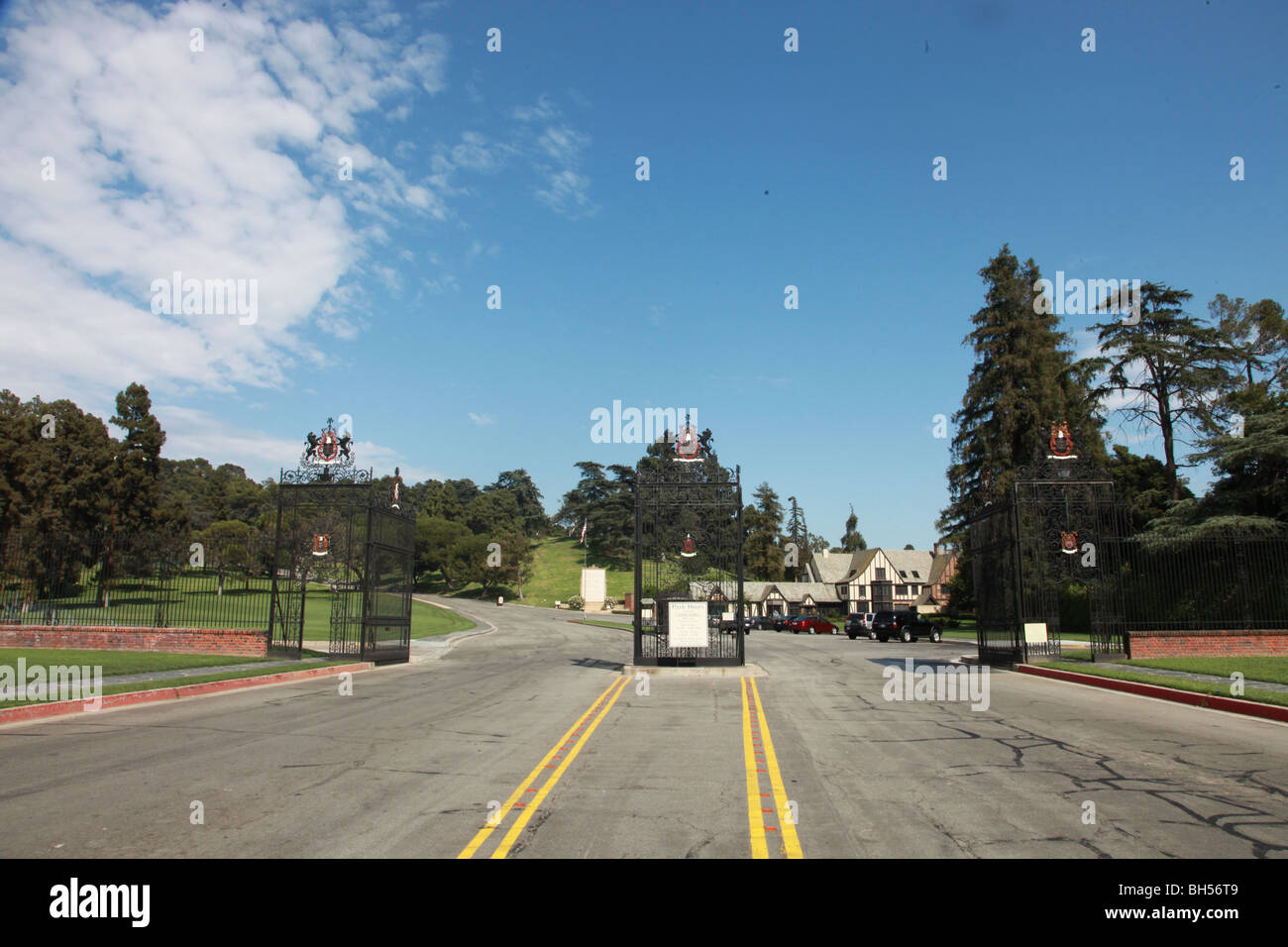 FOREST LAWN MICHAEL JACKSON TO BE LAID TO REST HERE LOS ANGELES CALIFORNIA CA USA 22 August 2009 - Stock Image