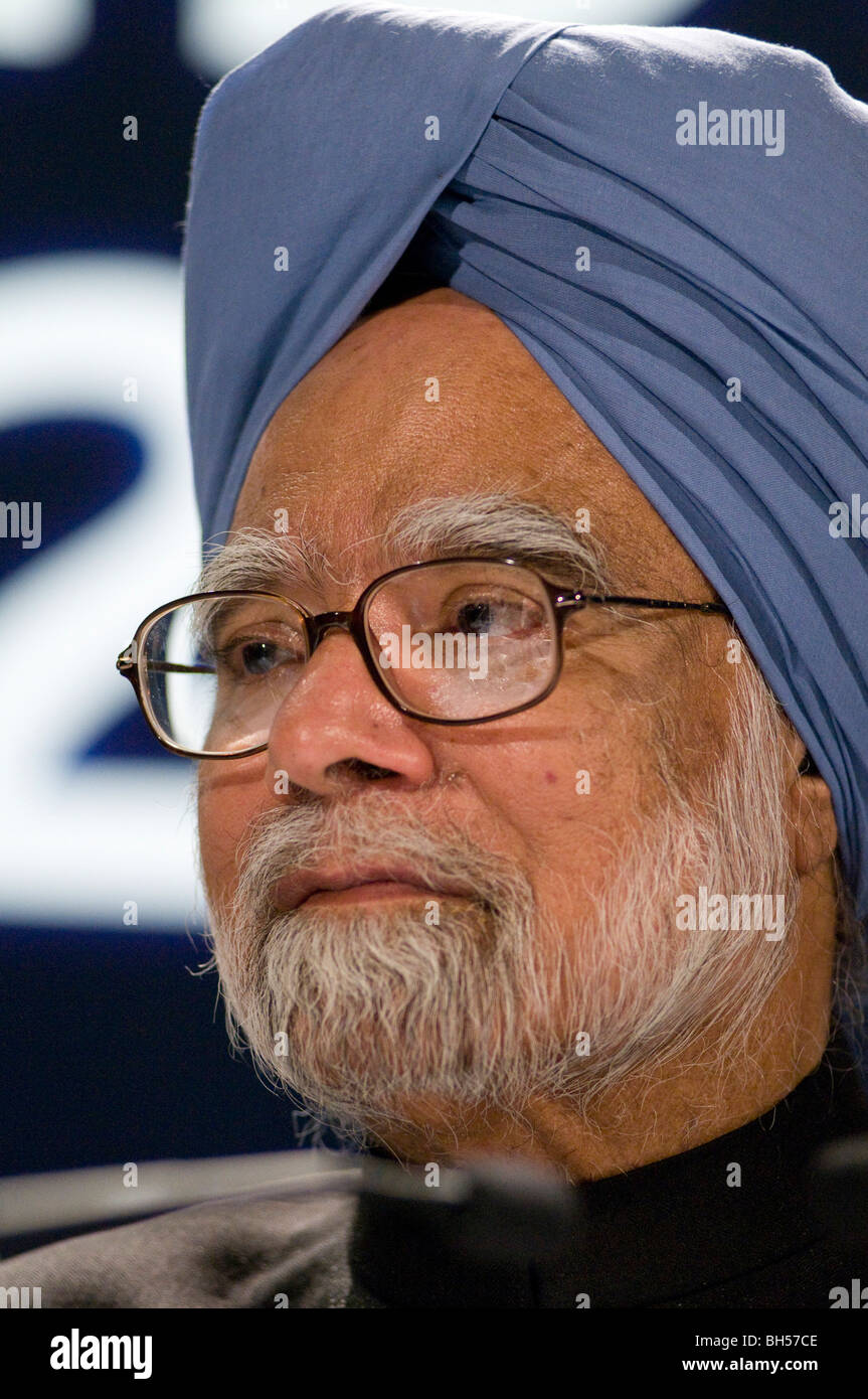 Prime Minister of India Dr. Manmohan Singh Photo by Julio Etchart - Stock Image