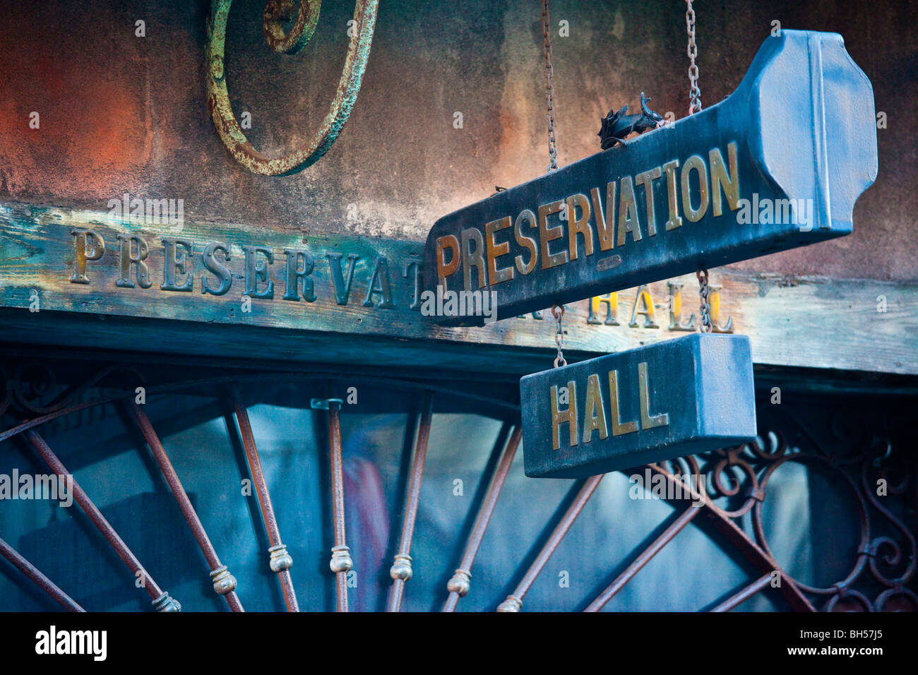 Preservation Hall Jazz Club in the French Quarter of New Orleans, LA - Stock Image