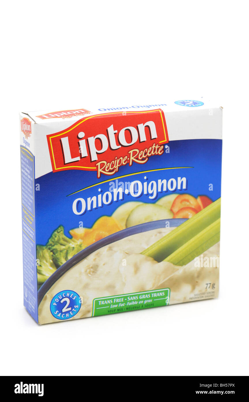 Package of Onion Soup Mix - Stock Image