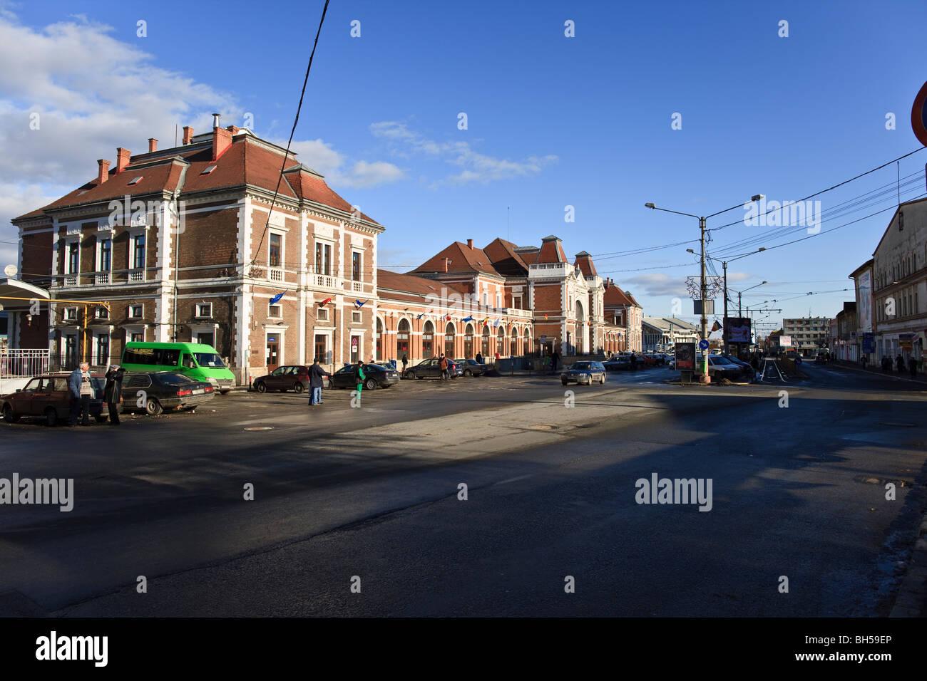 Main station in Cluj-Napoca Romania - Stock Image
