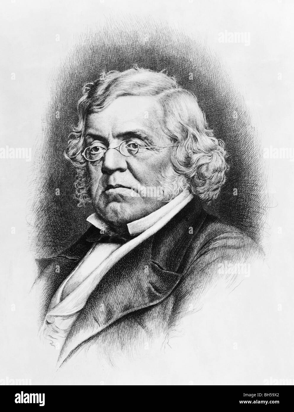Portrait c1907 of author William Makepeace Thackeray (1811 - 1863) - the 19th century English novelist who wrote Stock Photo