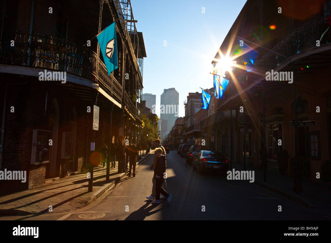 new orleans bourbon street balcony stock photos new orleans bourbon street balcony stock. Black Bedroom Furniture Sets. Home Design Ideas