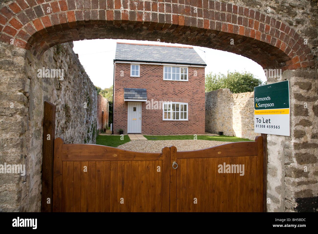 House for sale in Bridport, Dorset, England. - Stock Image