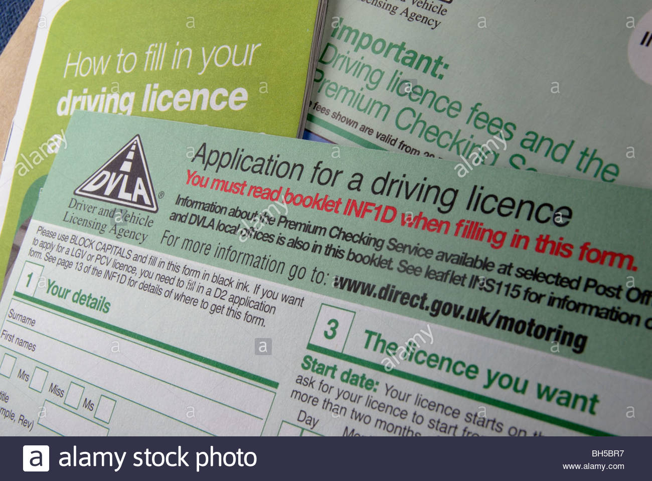 driving licence application