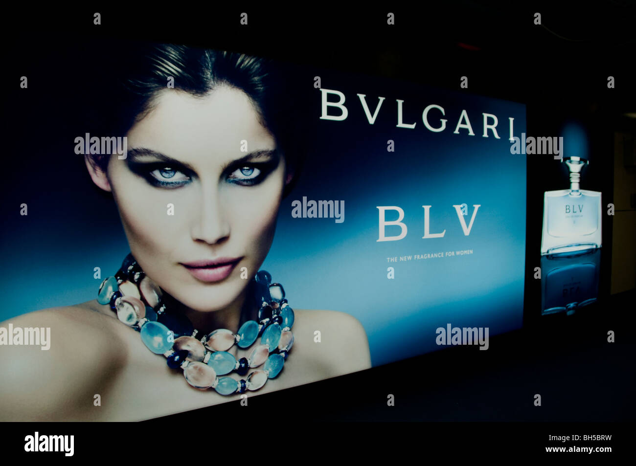 Bvlgari Bulgari perfume  fashion woman young classy eyes - Stock Image