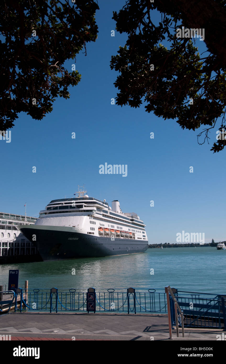 Ferryboat docked at princes wharf auckland , New Zealand Stock Photo