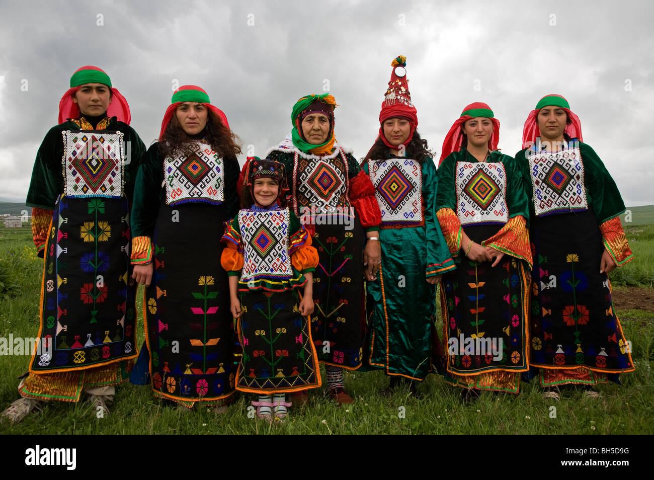 Indigenous Turkish women from Ardahan Turkey - Stock Image