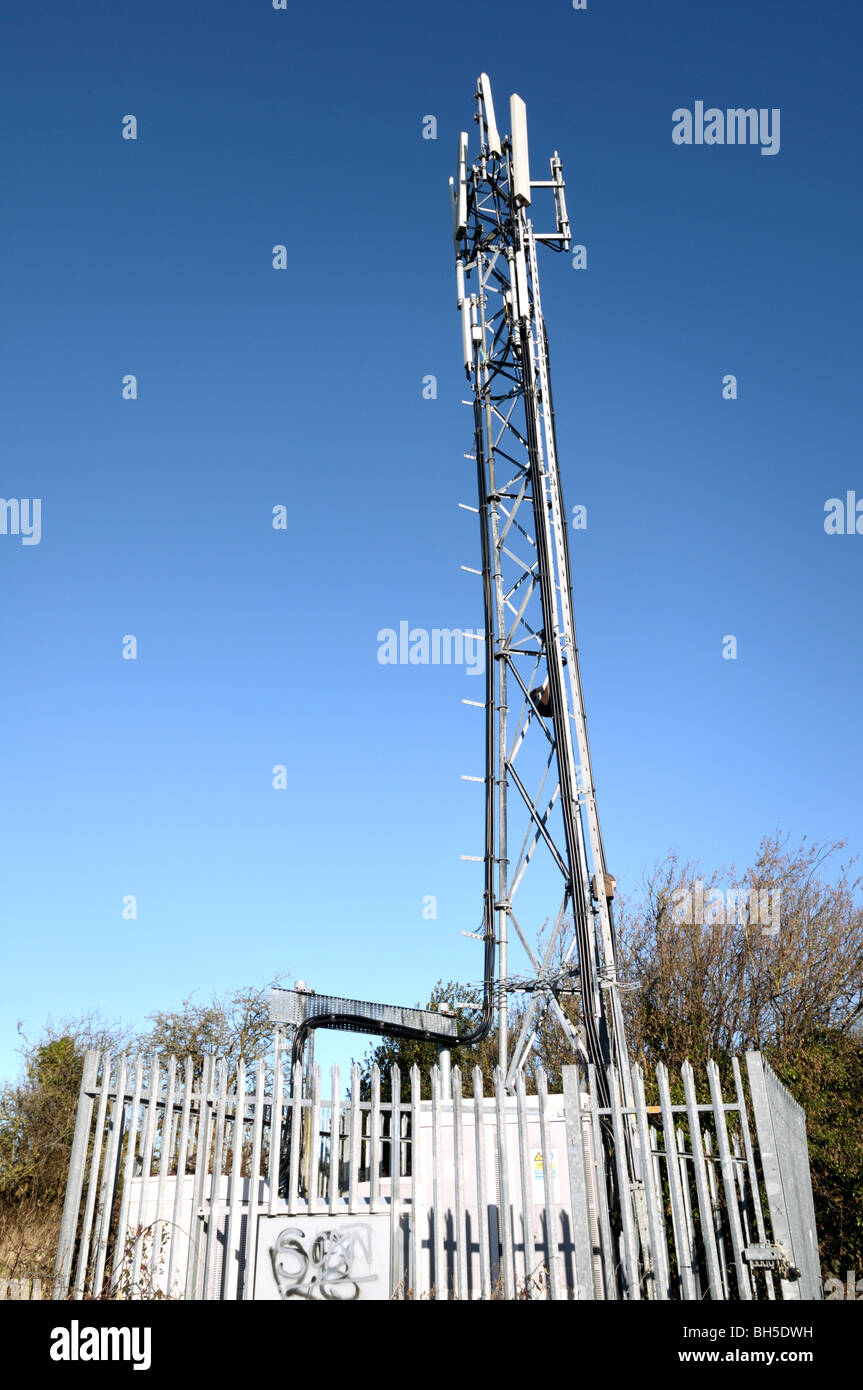 Cellphone Tower With Radiation Stock Photos & Cellphone Tower With