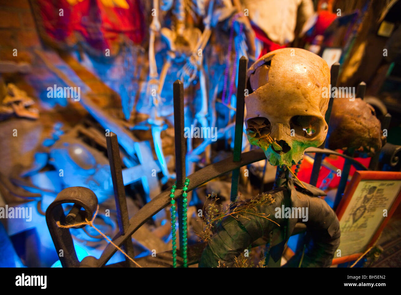 New Orleans Historic Voodoo Museum in the French Quarter of New Orleans, LA - Stock Image