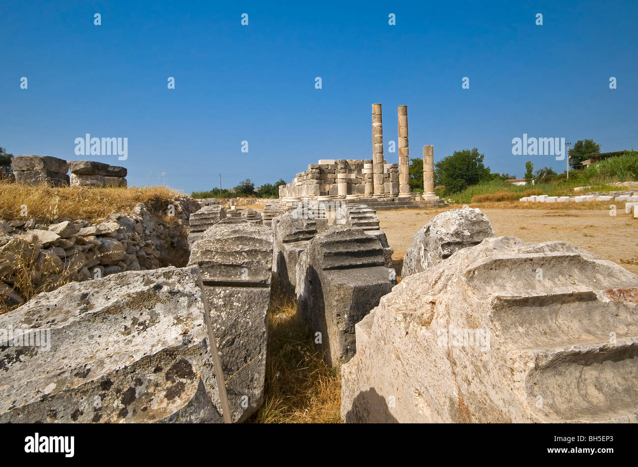 Ancient Ruins at Letoon, Turkey - Stock Image