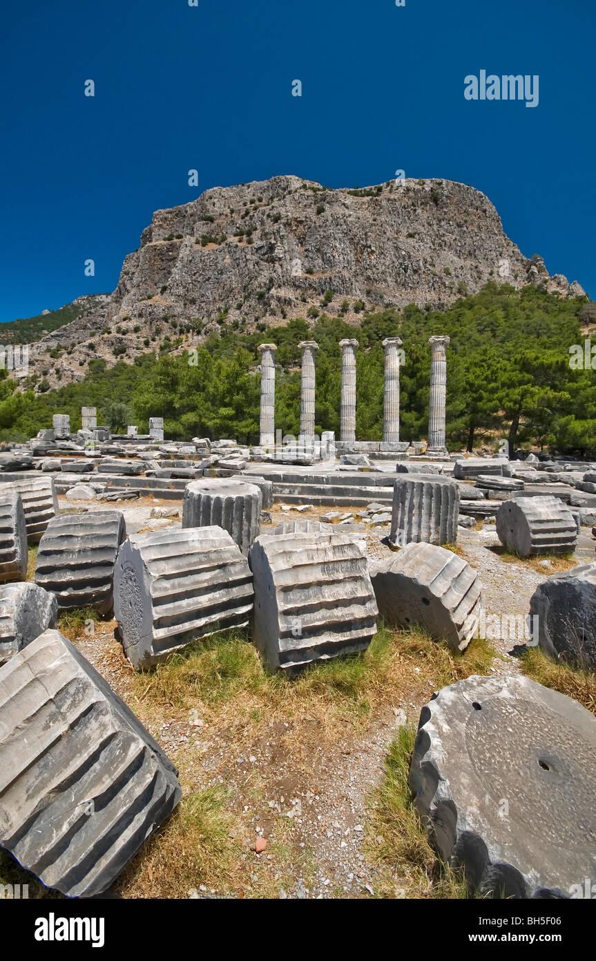 Priene Ruins Izmir Turkey Stock Photo