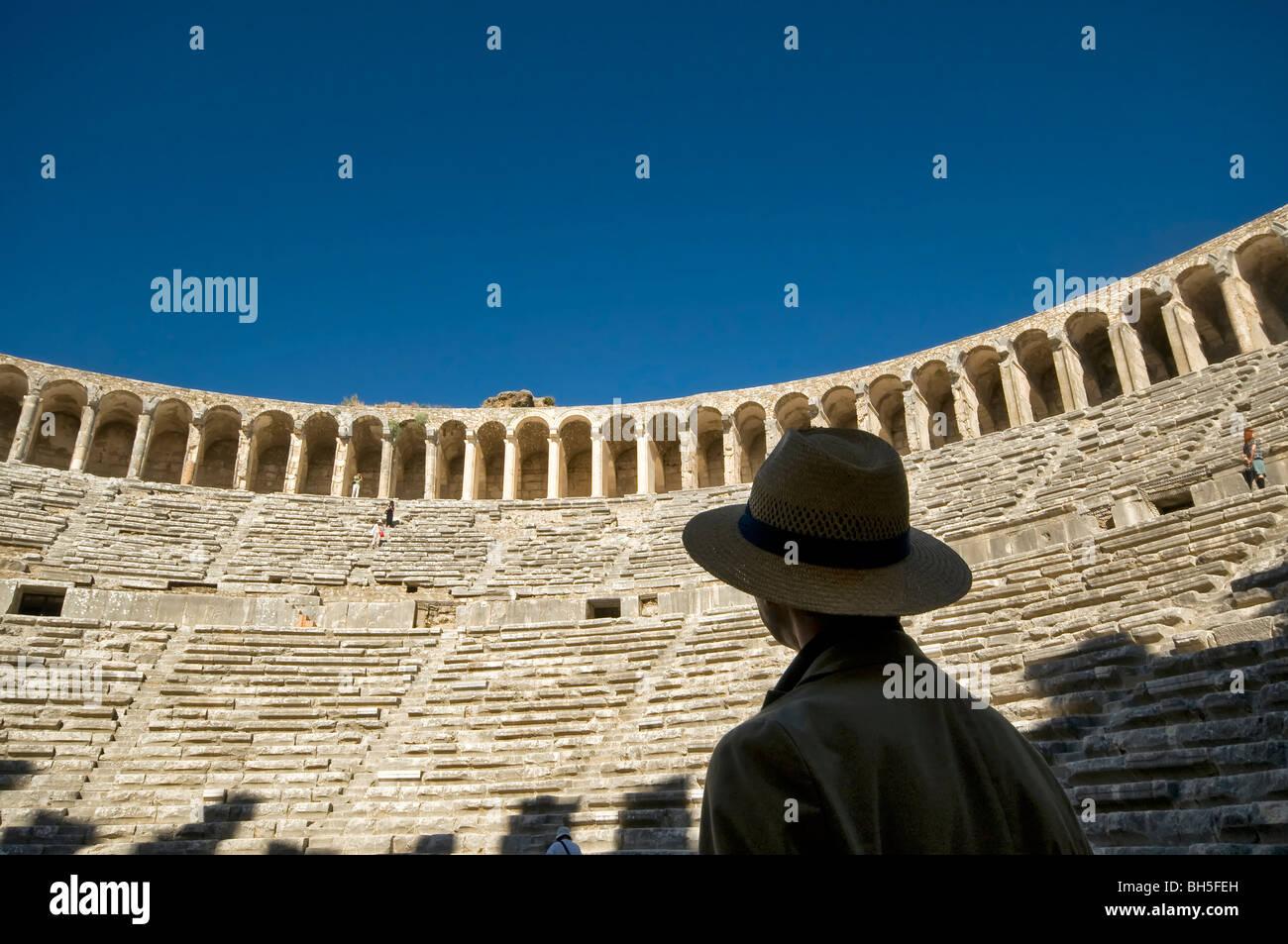 Aspendos Antique Theater in Antalya Turkey - Stock Image