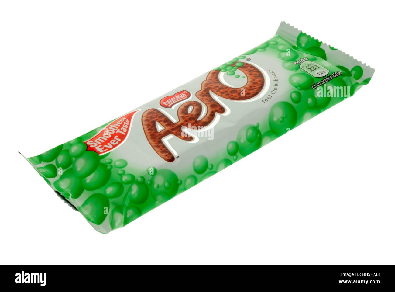 Nestle Mint Aero Chocolate Bar - Stock Image