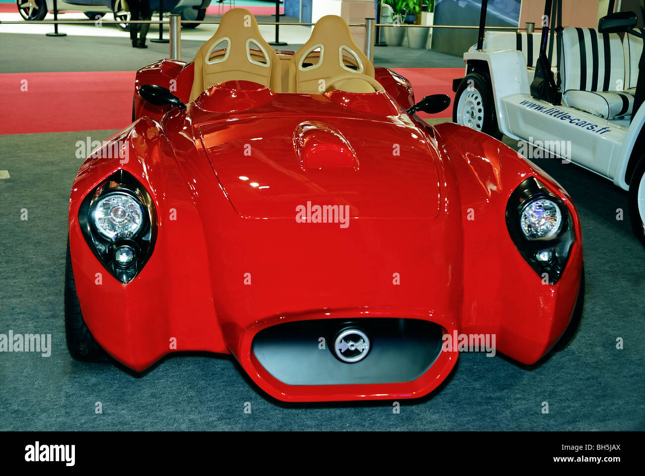 Paris, France, Light French Electric Car, on Display, \
