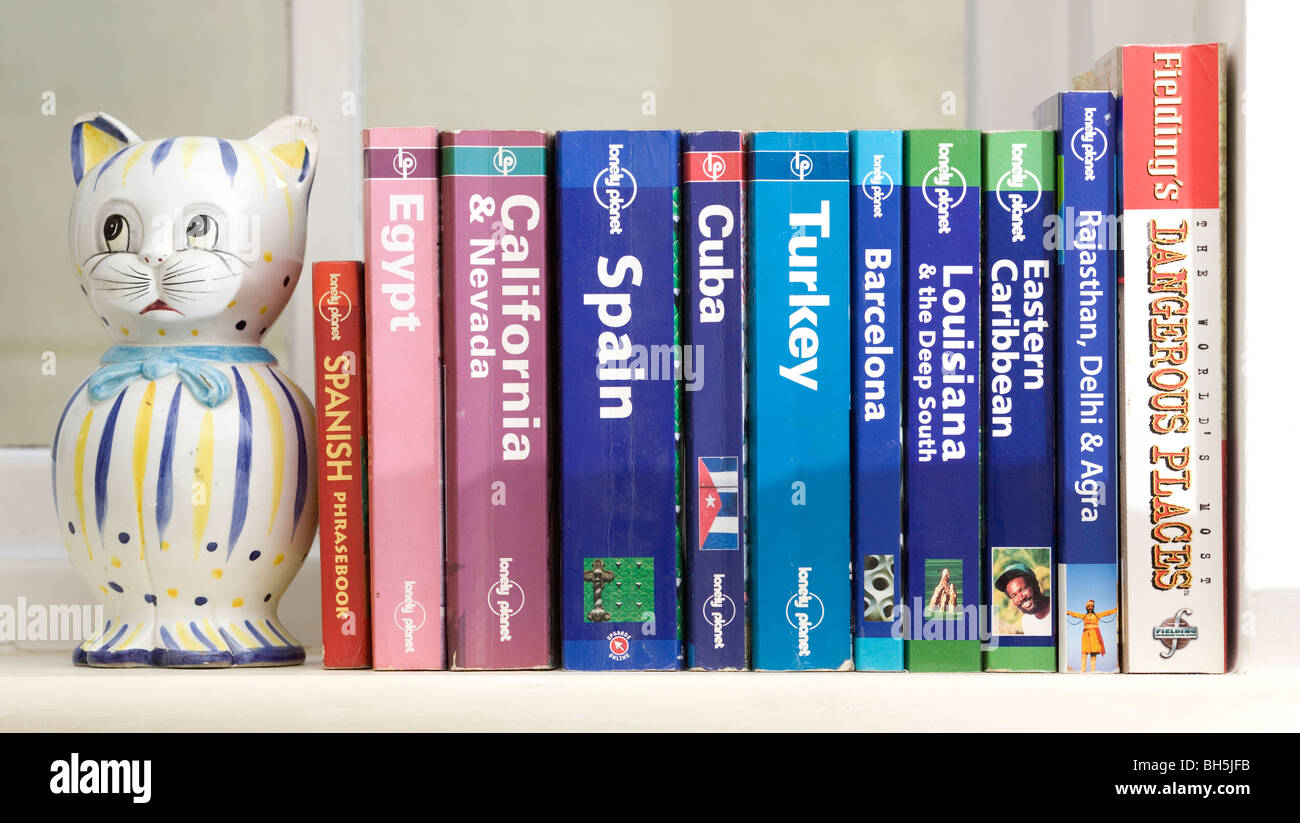 A collection of Travel guides. Picture by James Boardman - Stock Image