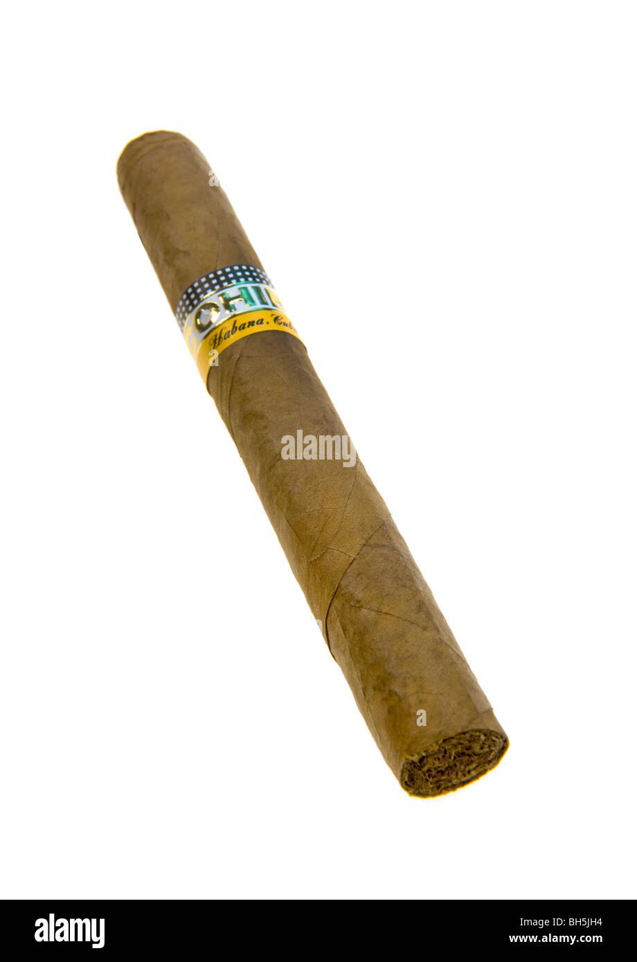 CIGAR Habana COHIBA siglo II tube handmade hand made Cigar Cigars of Havana Havanna Cuba Kuba smoke smoker smoking - Stock Image