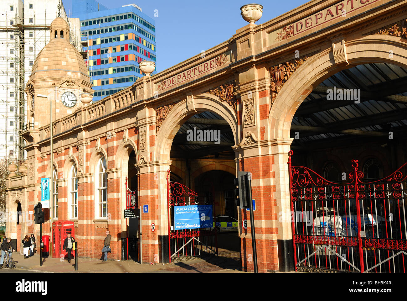 Leicester Midlands Train Station. - Stock Image