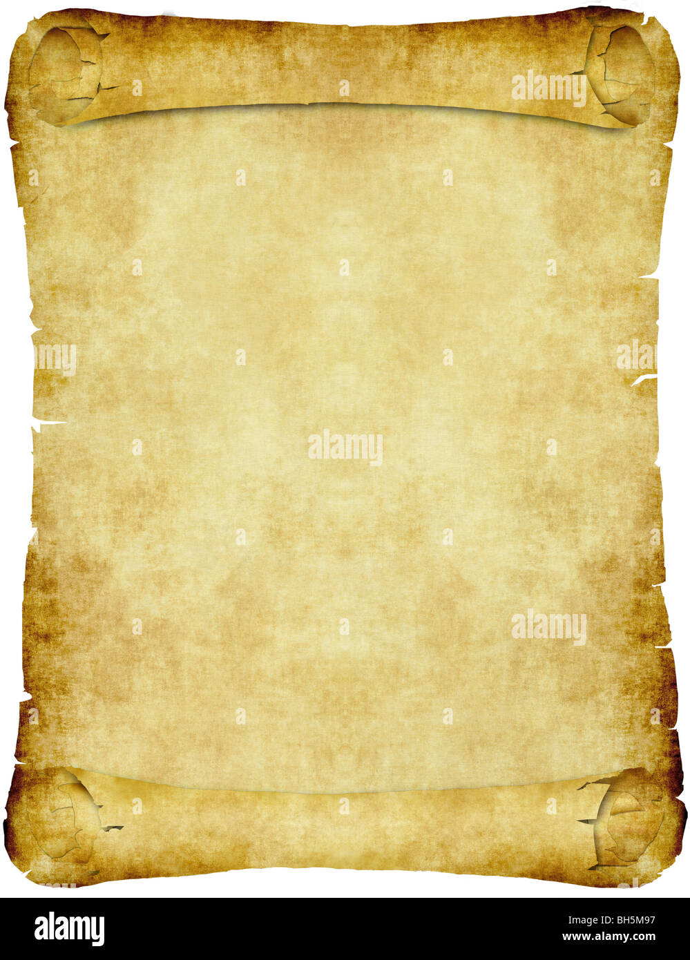 old parchment scroll - Stock Image
