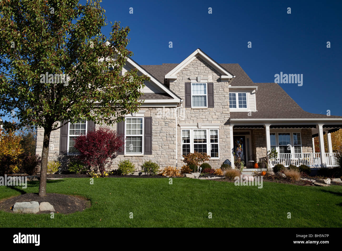 Beautiful family house in tranquil zone half an hour out of Cincinnati. - Stock Image