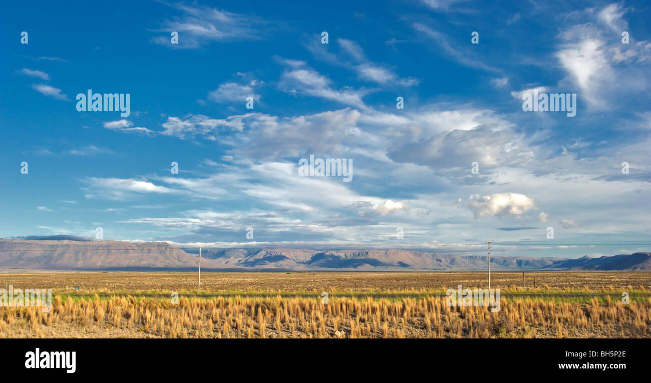 Karoo landscape, South Africa - Stock Image