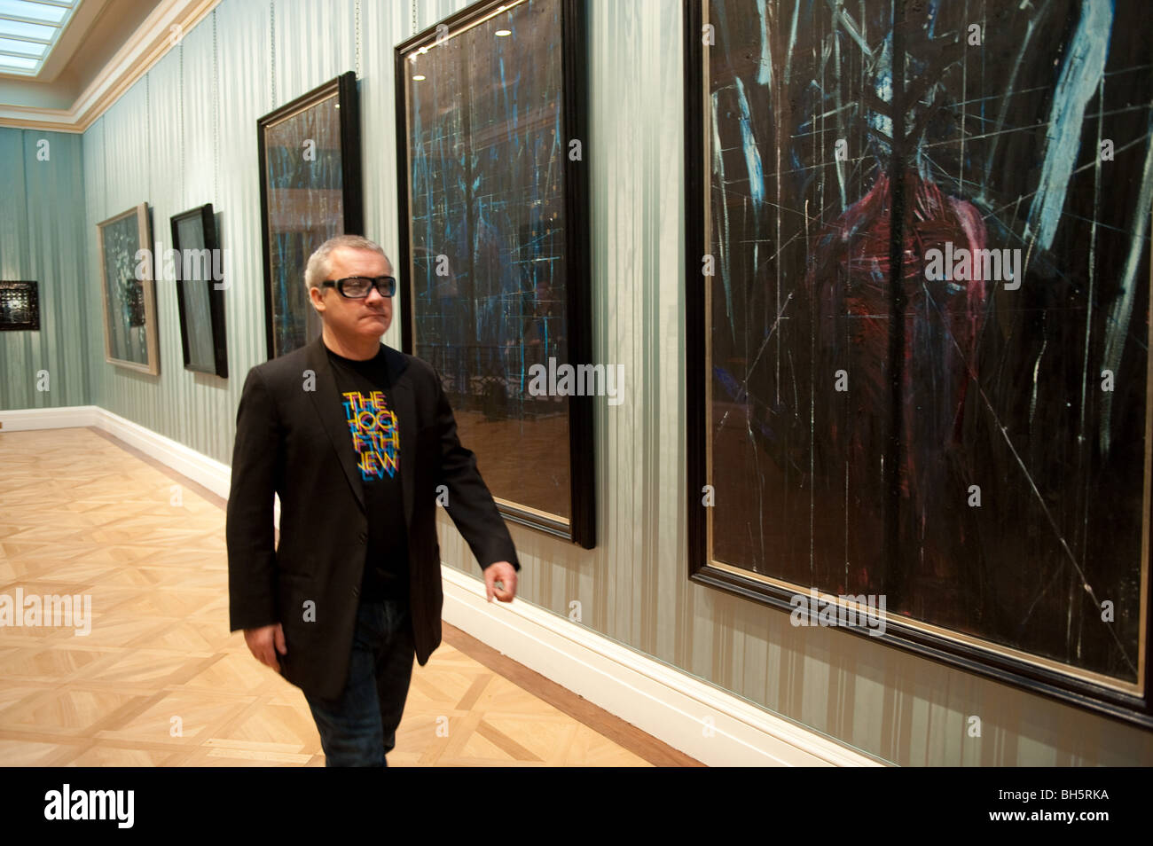 Damian Hirst and some of his work - Stock Image