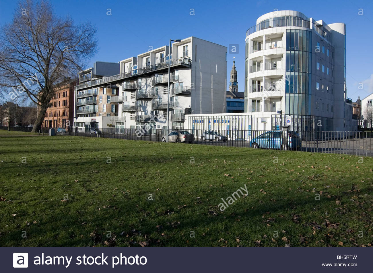View of the Homes for the future project Glasgow Scotland - Stock Image