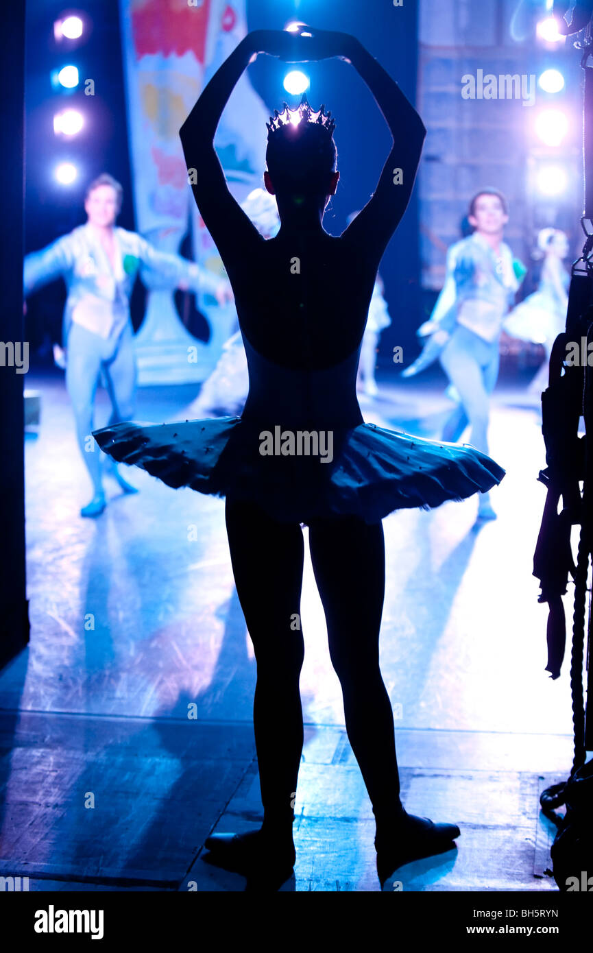 English National Ballet. 'The Nutcracker'. Backstage. - Stock Image