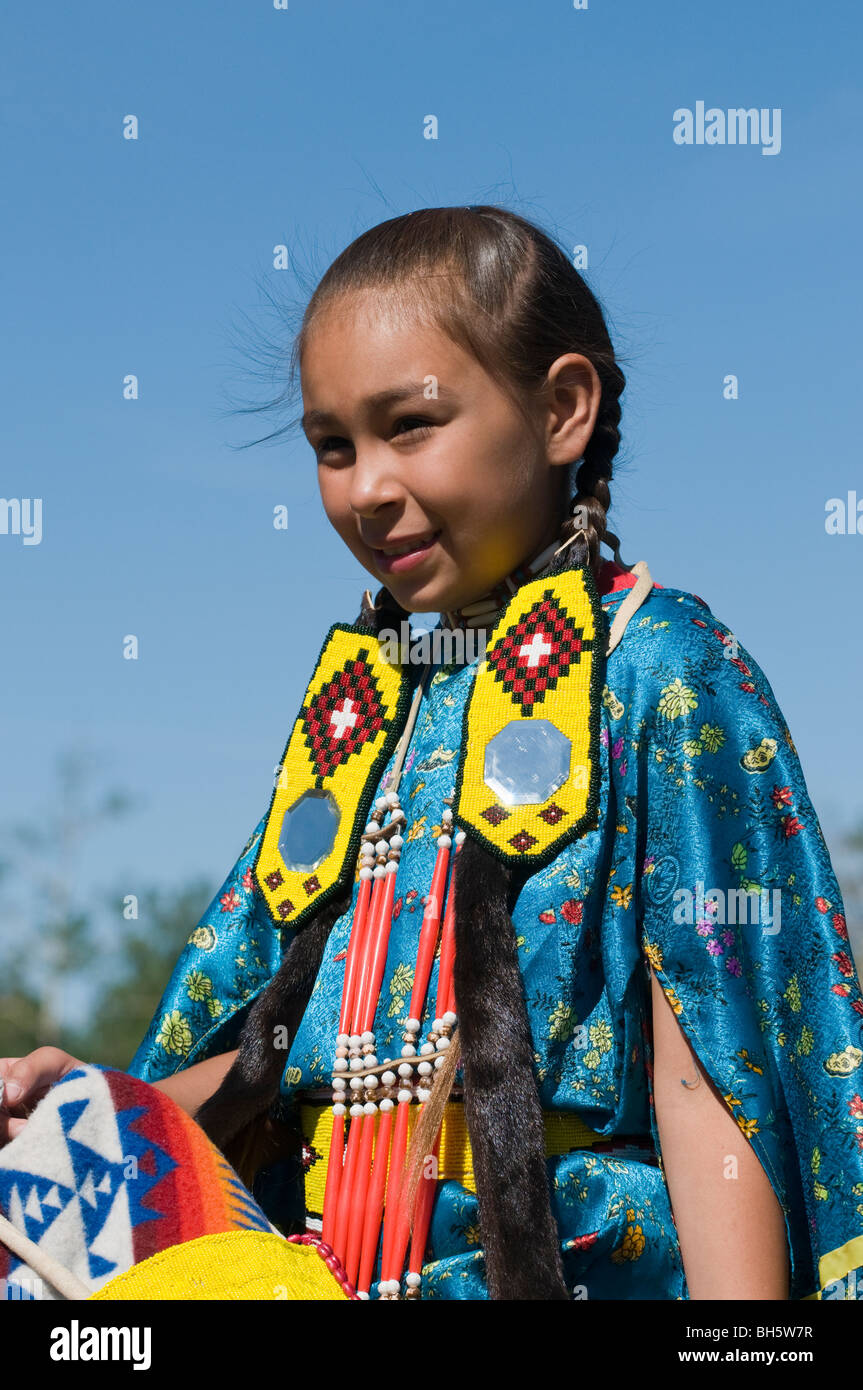 Very young native american girl