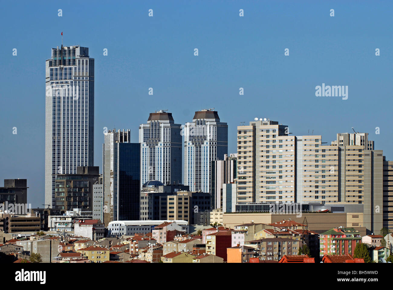 Business district Levent Istanbul Turkey - Stock Image