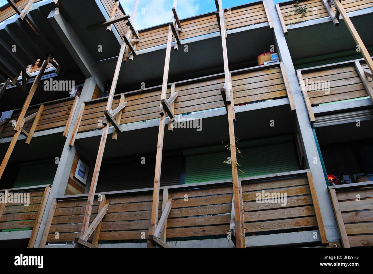 Villa des vignoles eden bio public housing Paris France - Stock Image