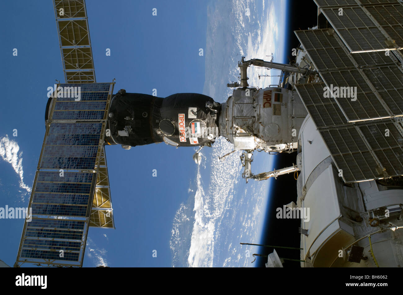 November 21, 2009 - Russia's Progress 35P is docked to the Pirs Docking Compartment. - Stock Image