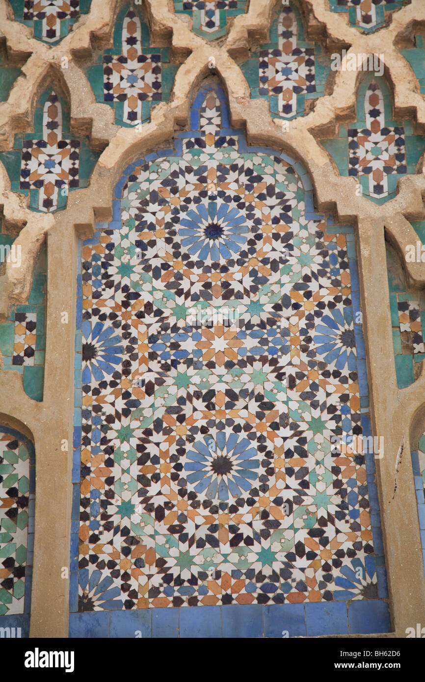 Detail of Bab Mansour Gate Meknes Morocco North Africa - Stock Image