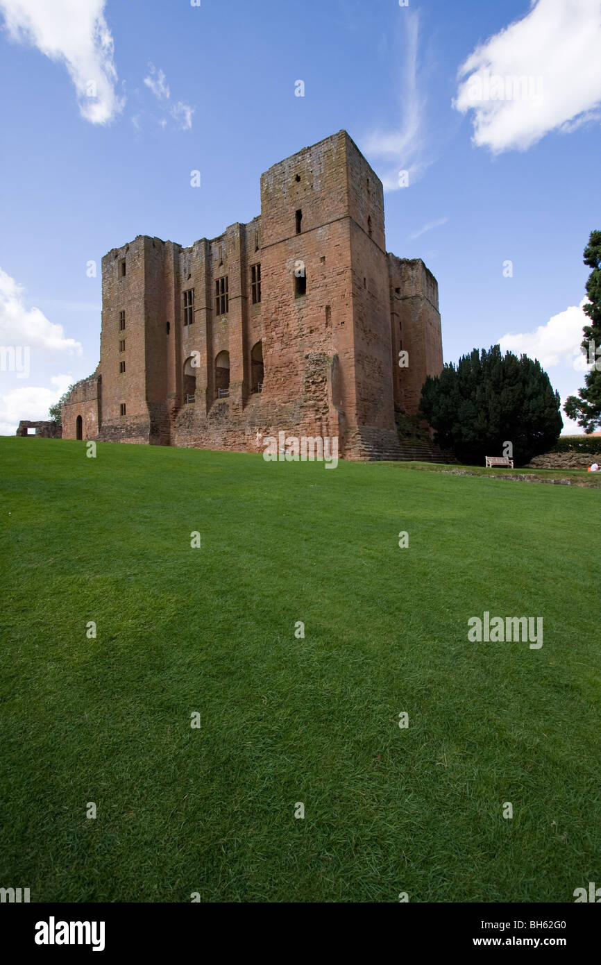 View of Kenilworth Castle, Wawickshire - Stock Image