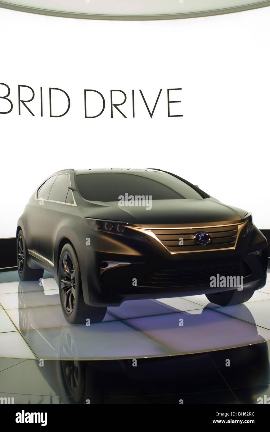 Paris, France, Paris Auto Show, Lexus Electric Hybrid Motor, Concept Car, - Stock Image
