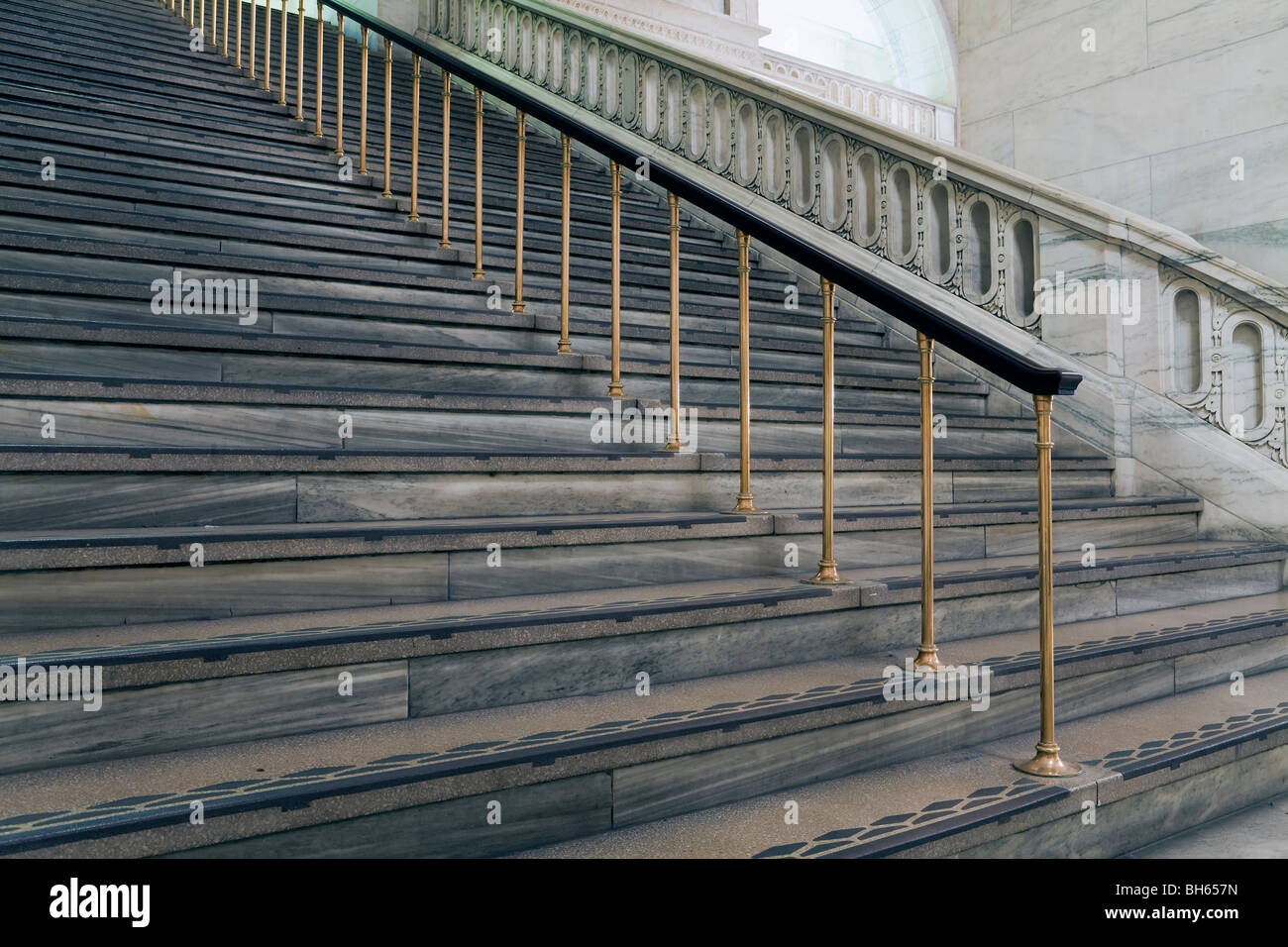 USA, New York City, Manhattan, New York Public Library   Staircase   Stock