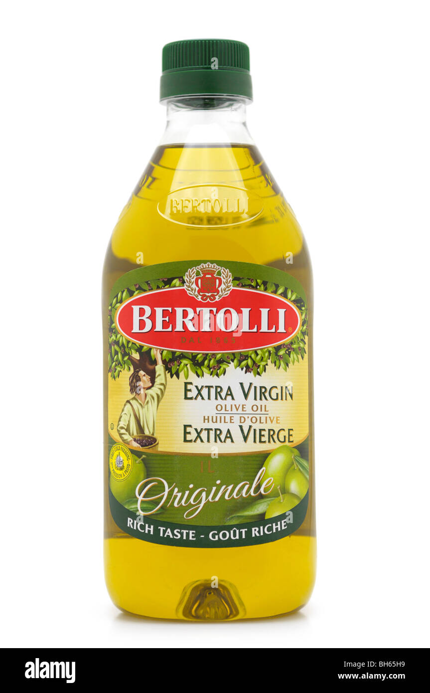 Bottle of Extra Virgin Olive Oil - Stock Image