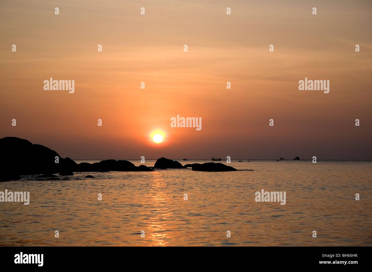 Sunset on Karon Beach, Phuket Stock Photo