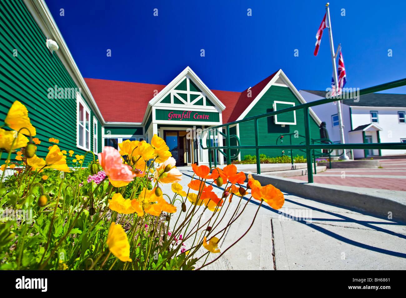 Grenfell Historic Properties, Grenfell Interpretation Center, St. Anthony, Newfoundland, Canada - Stock Image