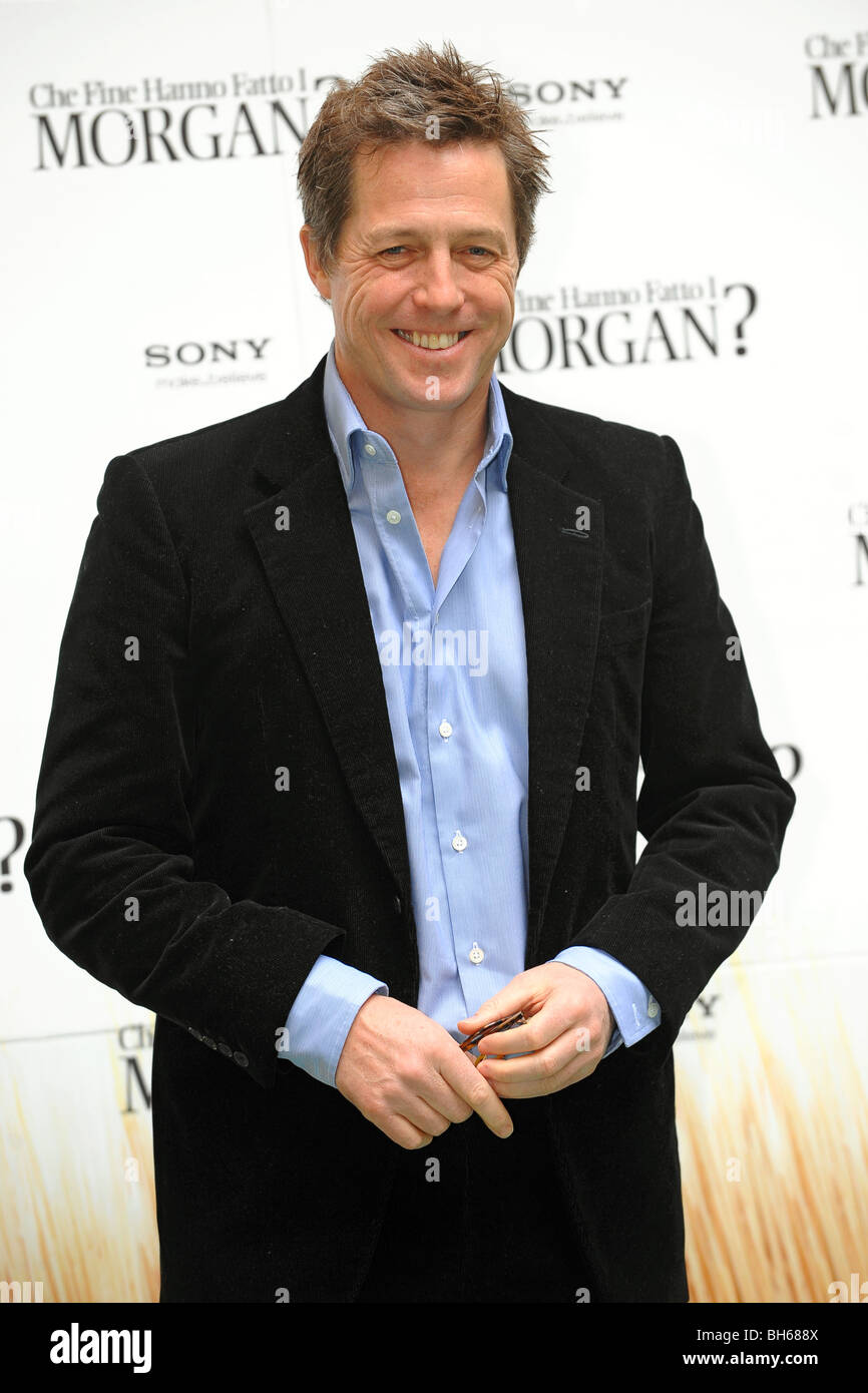 Hugh GRANT Did you hear from Morgan - Photocall - Roma 28/1/2010 Hotel Hassler - Stock Image