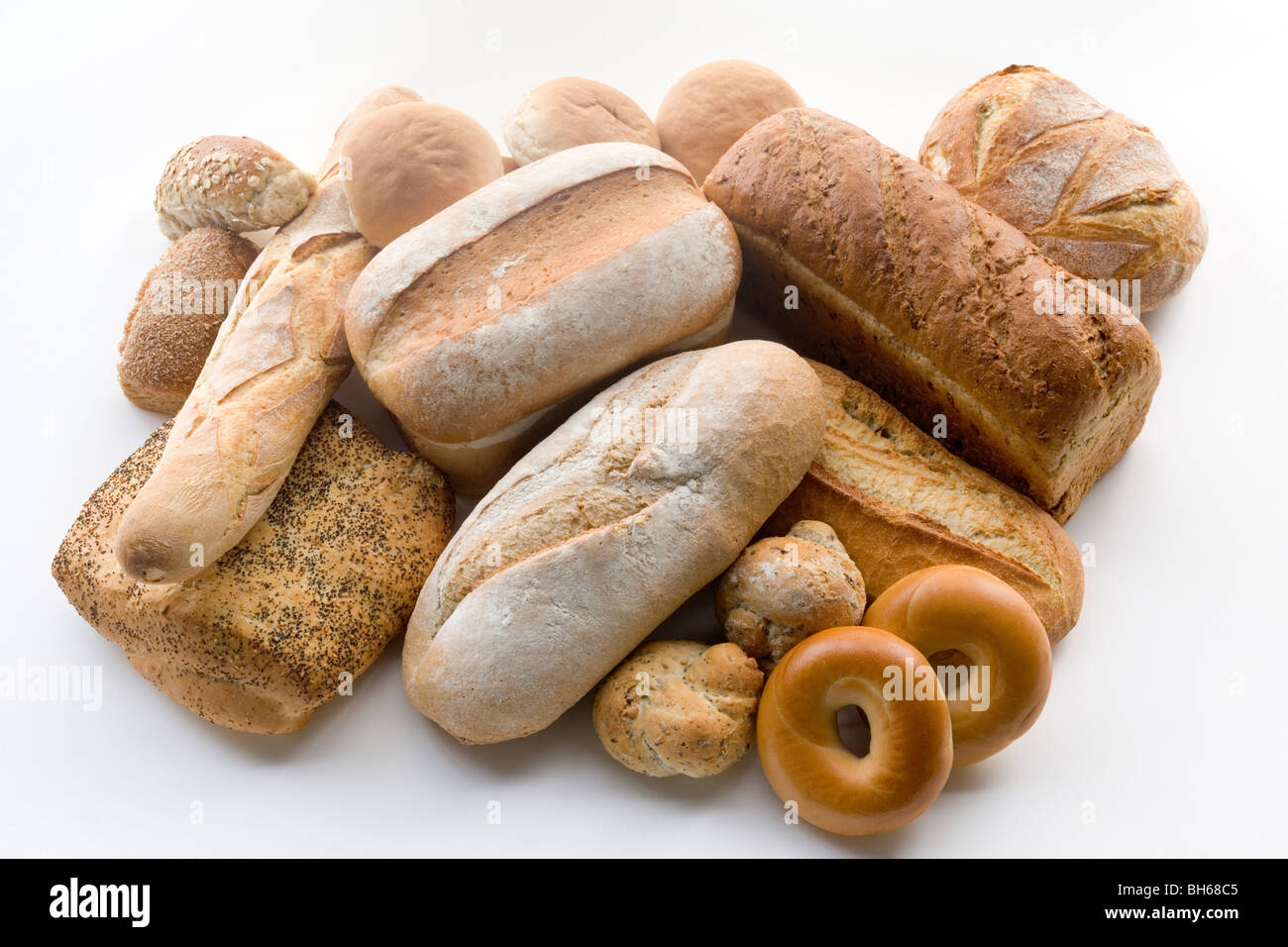 Variety of Bread Products - Stock Image