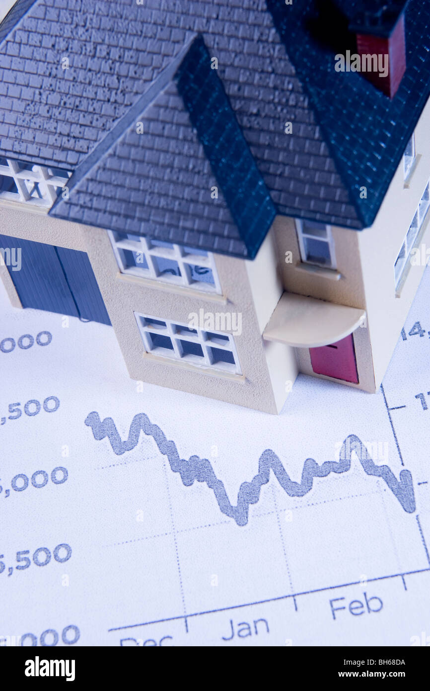 Concept Showing Decline In Housing Market - Stock Image