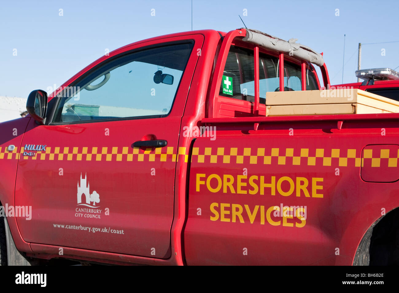 Foreshore Services Van Canterbury - Stock Image