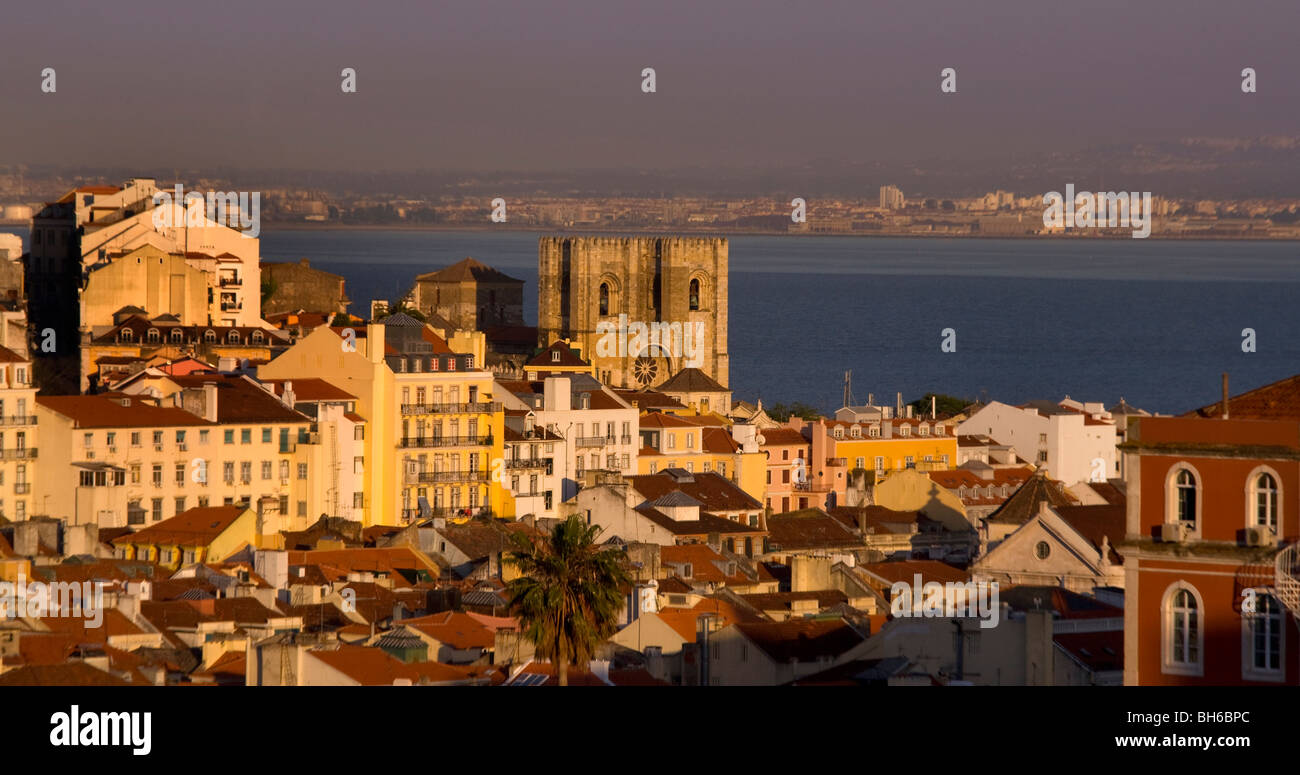 Se Catherdral, Baxia District, Lisbon, Portugal, Europe Stock Photo