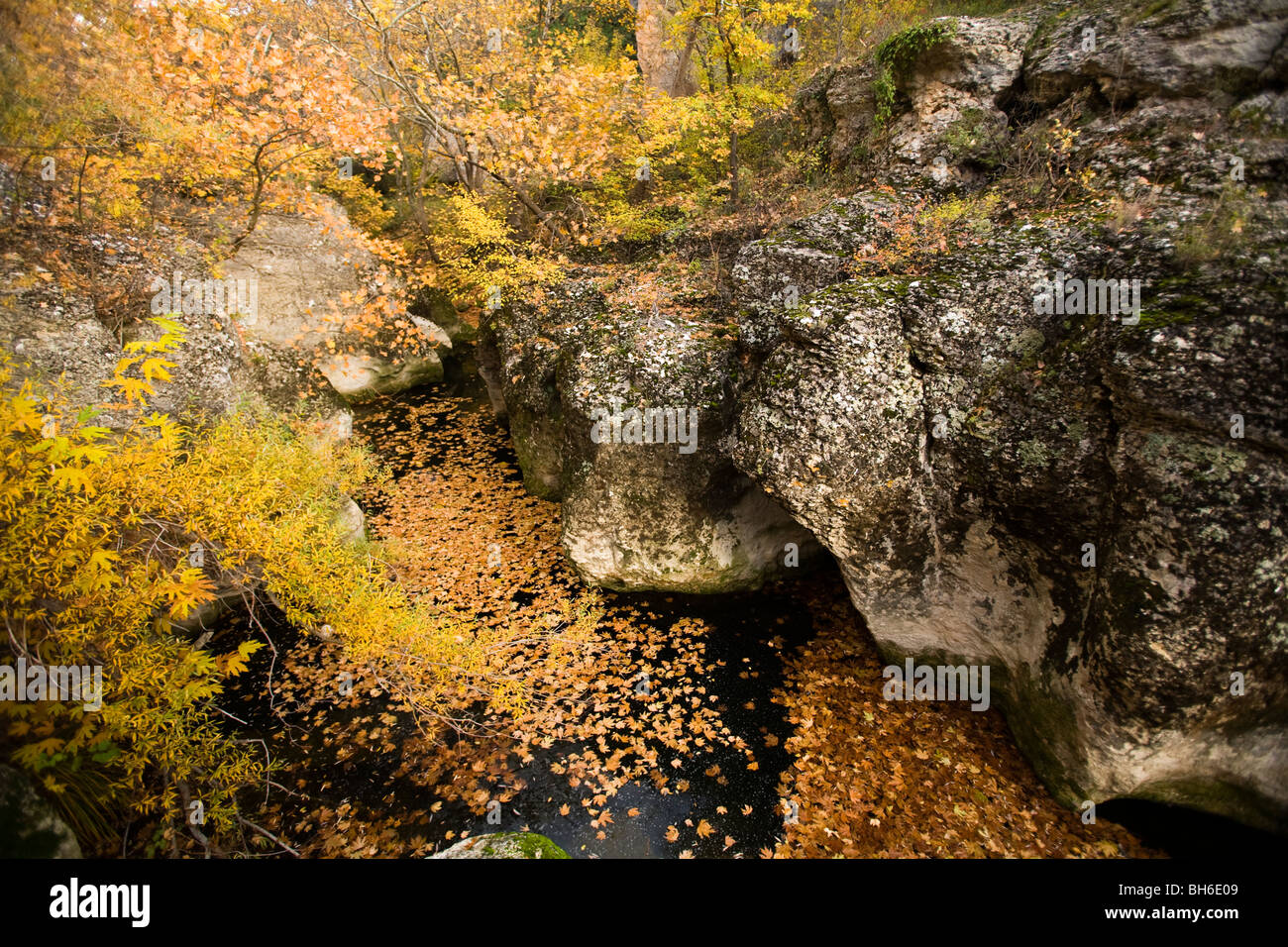 Scenic view of canyons in Safranbolu Turkey - Stock Image