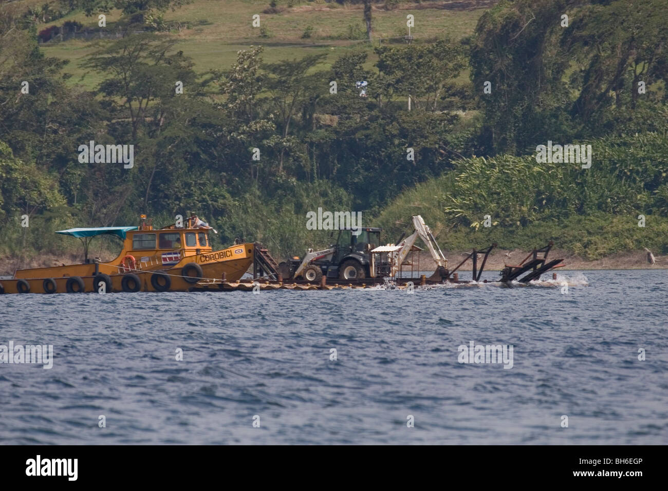 Digger on Lake Arenal, Costa Rica - Stock Image
