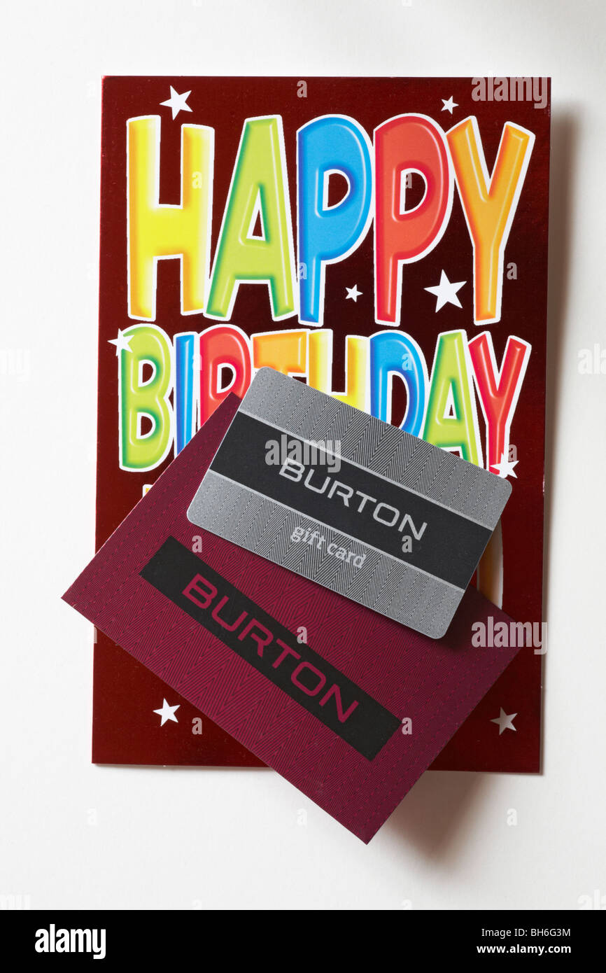 Burton Gift Card Giftcard Voucher With Birthday Isolated On White Background