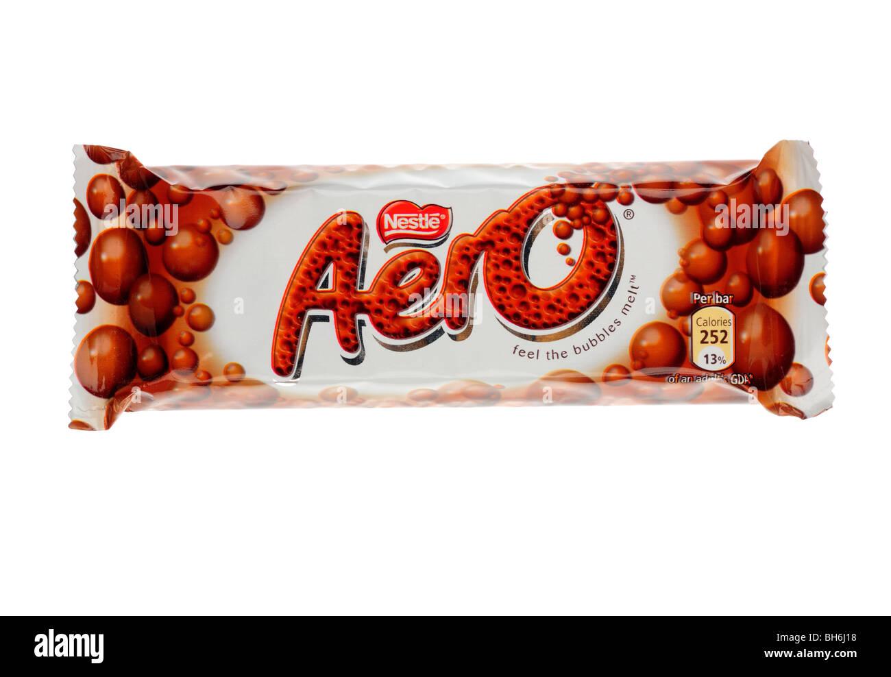 Nestle Original Aero Chocolate Bar - Stock Image